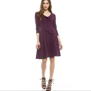 NWT Alexia Admor ZOEY NECK TIE FIT AND FLARE DRESS